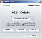 3DMark05 6521