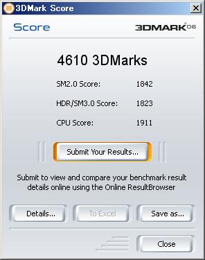 4610 3DMark on 3Dmark06